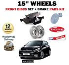 FOR KIA CEED 1.4 1.6 CVVT CRDI 2012-> NEW FRONT BRAKE DISCS SET + DISC PAD KIT