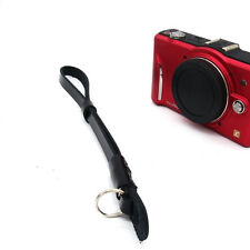 luxury Leather Hand Wrist Strap For DSLR Leica Canon Nikon Panasonic Black Cool