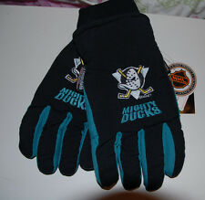 NHL MEN  MIGHTY DUCKS THINSULATED SKI GLOVES SIZE L