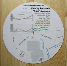 FIDELITY Research FR-66FX personalizzato progettato BRACCIO CARTUCCIA allineamento Goniometro
