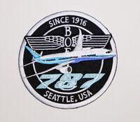 PATCH Boeing B787 *BLUE* Bomber Pilot Jacket sew-on / iron-on large fabric