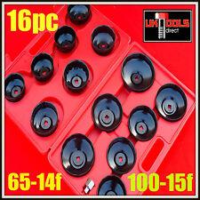 """Filtro de aceite Llave Extracción Extractor Set 16pc cuptype Tool Kit Adaptador 3/8"""" & 1/2"""""""