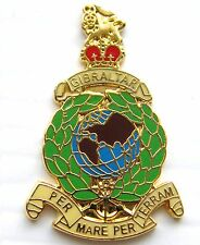 The Royal Marines Military Lapel Navy Pin Badge Gift Pouch Mod Approved