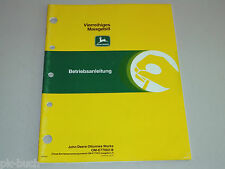Betriebsanleitung John Deere Vierrreihiges Maisgebiß / Maisgebiss Stand 1988