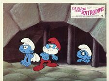 PEYO LA FLUTE A SIX SCHTROUMPFS 1976 4 VINTAGE LOBBY CARDS JOHAN ET PIRLOUIT