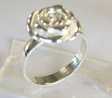 Handmade Ring Flower Rose 925 Sterling Silver Size.Us=7 Uk=N