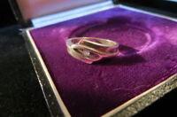Ausgefallener Designer 925 Silber Ring rosa Stein