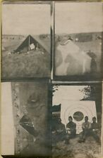 Multi-View Military Camping Tents Targets Real Photo RPPC Postcard C32