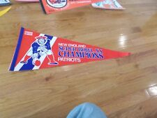 New England Patriots Super Bowl XX Champions Pennant Rare Never won Error