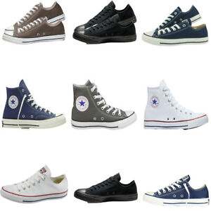 Mens Womens Converse Shoes All Star Low High Tops Chuck Taylor Trainers Sneaker
