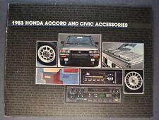 1983 Honda Accessories Catalog Brochure Accord Civic Excellent Original 83