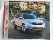 Toyota Highlander brochure 2013 USA market