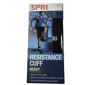 SPRI Resistance Cuff Heavy Exercise Guide Up to 50 lbs Resistance Black New