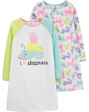 Nwt - Carter's Toddler Girl 2-Pack Rainbow Woodland Creatures Nightgowns (2-3)