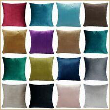"PILLOW COVER Microfiber Velvet Soft Premium Sofa Home Decor Cushion Case 18x18"""