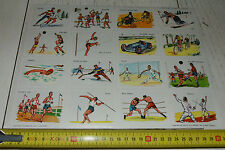 RARE PLANCHE N°68 32 X 23 CHROMOS ECOLE VOLUMETRIX 1957 SPORTS FOOTBALL BOXE