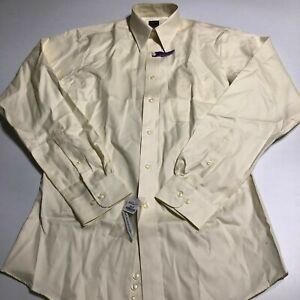 Joseph & Feiss Mens LS Off Yellow Slim Fit Shirt Sz 15 34/35 Button up