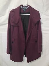 Tommy Hilfiger Womens Size 10 Fall/winter Trench Style Coat Purple