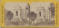 Parigi Francia Fontana Dei Innocents Foto Stereo Vintage Albumina Ca 1870