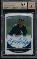 BGS 9.5 AUTO 8 MIGUEL ANDUJAR 2013 Bowman Chrome NY Yankees Rookie RC GEM MINT