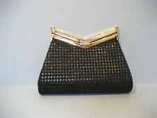 J. Mendel Black Minuit Clutch Handbag