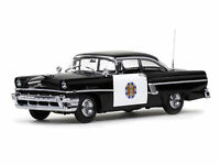 1:18 Sunstar 1956 Mercury MontClair Hard Top Police Car Black/White [5146]