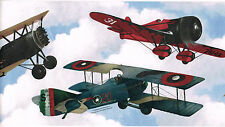 Vintage Biplanes Airplanes Air Space US Mail Museum Smithsonian Wallpaper Border