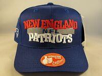 Kids Youth Size NFL New England Patriots Vintage Snapback Hat Cap