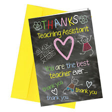 #262 Thanks Teaching Assistant Graduation Birthday Greetings Card Comedy Funny