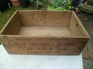 Original Vintage Advertising  Wooden Box  / crate .Produce of Greece.