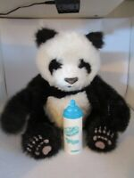 "FurReal Friends Luv Cubs 12"" Panda Bear w/Bottle WORKS! Tiger Electronics Hasbro"
