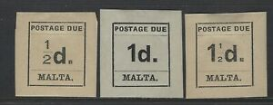 MALTA - 1925 POSTAGE DUE MINT STAMPS MH