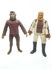 Vintage Mego Planet Of The Apes Dr Zaius + Soldier Ape action figures POTA
