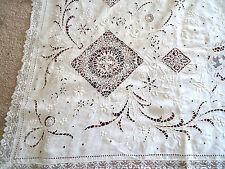 Ant French* Historic*Exquisite Tablecloth-Magnificent!La te 19Th Cent. Grandiose