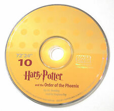 Harry Potter Order of the Phoenix Stephen Fry Audio Book CD SPARE DISC: TEN 10