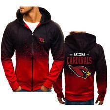 Arizona Cardinals Fans Hoodie Zipper Loose Sweatshirt Hooded Sport Casual Jacket