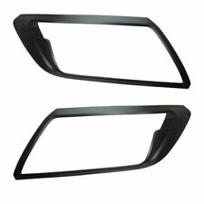 MATTE BLACK Front Headlight Brow Cover Guard Trims for Nissan Navara NP300