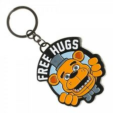FIVE NIGHTS AT FREDDY'S FREE HUGS BIG FACE METAL KEY CHAIN RING ORGANIZER HOLDER