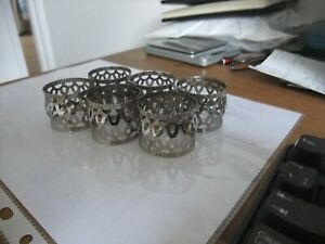 Set Of Six Delightful Silver Plated Napkin Rings