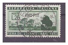 TRIESTE A - 1952 FIERA DI BARI USATO