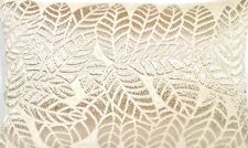 Silver Leaf Cushion Cover Luxury Pierre Frey Fabric Cotton Beige Woven Rectangle