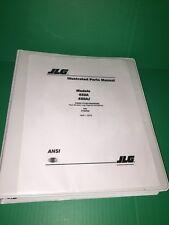 Jlg boom Illustrated Parts Manual 450A 450Aj equipment service technician book