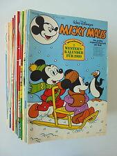 46x MICKY MAUS von 1980. Heft Nr. 1 - 52 fast komplett. Comic Sammlung