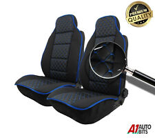 Front Blue Cross Stitch Leatherette Car Seat Covers For Toyota Corolla Avensis