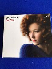 NEW Lou Tavano For You CD Promo Copy Jazz ACT 2016
