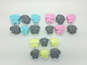 60 x Mini Elephant Soaps - Scented - Baby Shower Game Prize Christening Favours