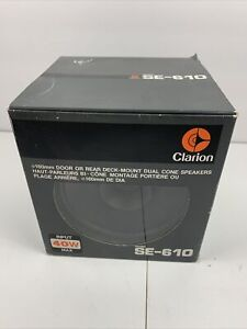 Vintage 1980's Clarion SE-610 Pair of Quality Japanese Speakers New Open Box