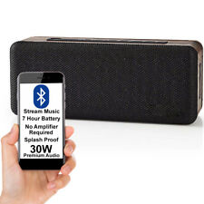 30W EQUALIZED Bluetooth Speaker -WOOD- Wireless Portable Rechargeable BASS AUX