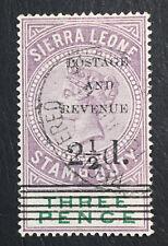 MOMEN: SIERRA LEONE SG #56 1897 USED LOT #60530