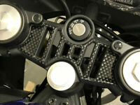 Carbon Fibre Effect Yoke Cover Protector to  fit Yamaha YZF R125 2019 Onwards